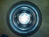 "Selling a set of 4 ea Mopar ""Police"" car wheels with"
