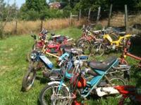 Have several late 70's, early 80's Mopeds for sale.
