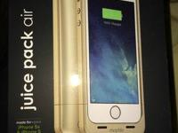 Mophie phone case. Color- Gold. Gives you 100% battery.