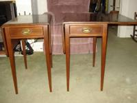 ** MORE VINTAGE FURNITURE ** Pair - Walnut Drop Leaf