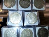 Morgan Dollars in stock I have attached some pictures