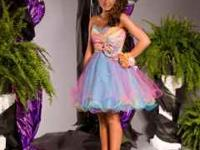 MORI LEE RAINBOW CORSET PROM/PAGEANT DRESS It's a size