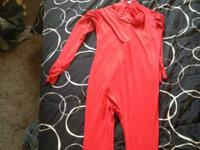 Im selling my red morphsuit never been worn by a human