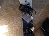 For sale I have a morrow snowboard. The board was only
