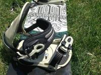 Morrow Press 148 Snowboard w / SnowJam bindings ($75).
