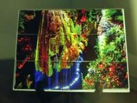 imprinted on glossy tile this amazing waterfall