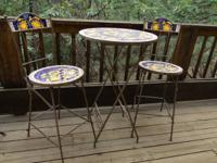 Cafe/Cabaret Style Table with 2 Chairs.  Sunflower with