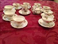 For Sale: Demitasse Tea Set includes 10 tea cups, 9