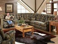 MOSSY OAK RECLINING CHAIR SECTIONAL, MATCHING RECLINER