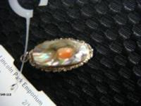 Very unique! Circa 1900's, sterling, mother of pearl w/
