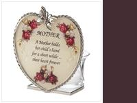 Description  Glass plaque features a gorgeous floral