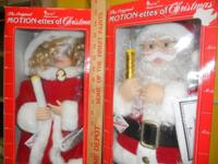 Santa and Mrs. Claus. Both brand new in boxes, never