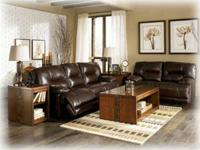 Brand new all leather reclining sofa w power and