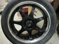 MOTO GI 17INCH BLACK AND CHROME RIMS & TIRES 5 LUGS 5