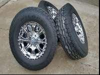Awesome set of wheels and tires. The tires are Rocky