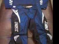 For sale is this set of Fox Motocross gear. It is Blue,