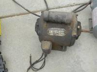 Motor for sale. One is 1/6 hp, works. $15 Please call