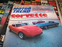 I have for sale a lot of old motor trend magazines,