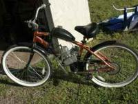 I have bike with a 60cc engine on it . all new , I made