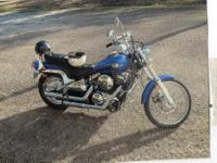 2005 kawasaki vulcan.Blue in color with the chrome
