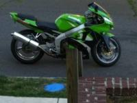 1999 Kawasaki Ninja ZX-6R with 17k miles. Garage kept