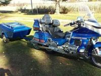 1992 HONDA GOLDWING GL 1500 & & TRAILER. WITH 34000