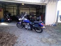 2003 Honda VTX 1800, purple, 22,561 miles. New fork