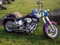FOR SALE BY OWNER IS A 1985 HARLEY DAVIDSON SOFT TAIL
