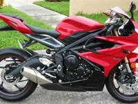 For sale is a 2015 Triumph Daytona 675 ABS Model! Brand