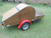 For Sale, Teardrop moorcycle cargo trailer. It is built