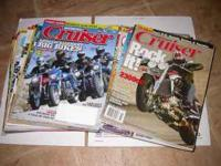 26 recent issues of Motorcycle Cruiser magazine $15