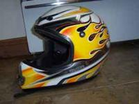 Motorcycle helmet in good condition. It's made by MSR
