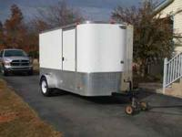 Motorcycle Enclosed Trailer 6ft by 11ft new tires and