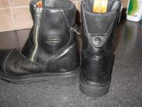 Harley Davidson Authentic Black Leather Riding Boots