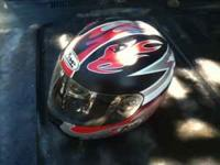 Helmet size large clear visor, still got a lot of miles