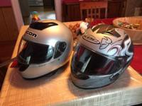 The ngk helmet is flawless and both are very clean make
