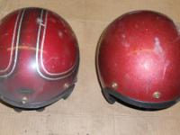 Motorcycle Helmets, no visor. Do not know the size, Im