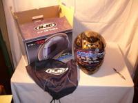 HJC FS-15 FS15 Prism Motorcycle Helmet Black & Gold -