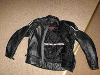size 48 2XL leather cortech jacket. like new condition,