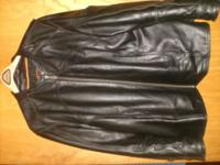 Classic Black Leather Motorcycle Jacket (outer shell
