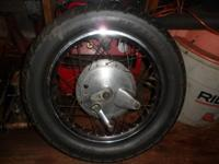 Motorcycle Rear Tire came out of a 1984 Yamaha 400XS