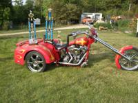 2005 Custom Made Motorcycle Trike, One Of A Kind, Has