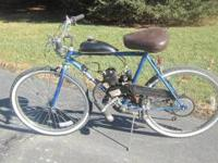 Three (3) bikes adapted with motor kits for sale. First