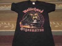 Motorhead Orgasmatron original concert t shirt 1986