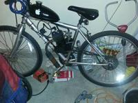 motorized bicycle available. good running 66cc 2 stroke