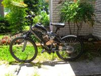 save gas ,ride in dirt trails, all new, pedal start 130