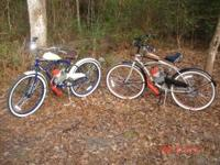 48cc Honda 2-storke motor on beach cruiser bikes. 150