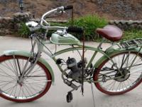 2 motorized bicycles for sale. Spit-Fire engines on