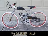EZ Gliders of Houston builds and sells motorized bikes.