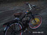 This is a sweet Schwinn Beach Cruiser, motorized with 5